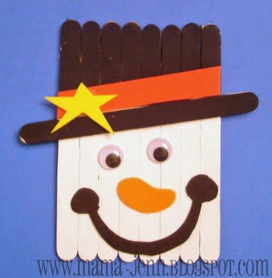 craft stick snowman ornament