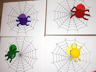 spider preschool color match game