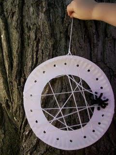 Preschool Outdoor Spider Craft