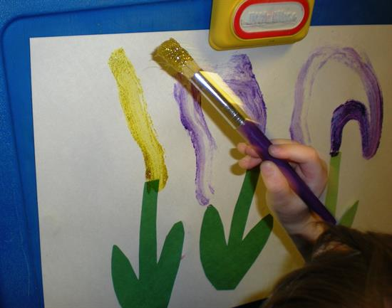 Step 2 Spring Flowers Painting