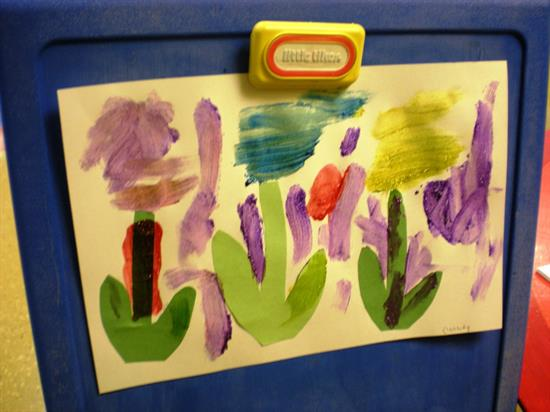 Step 3 Spring Flowers Painting