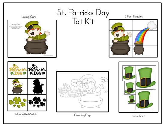 Toddler Printables for St. Patrick's Day