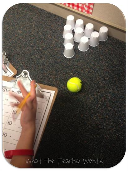 Math Activity - Subtraction Bowling