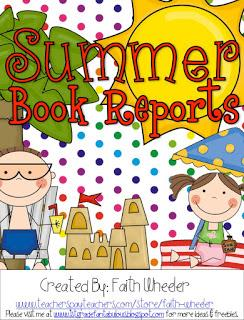 FREEbie - Book Reports for Summer Activity