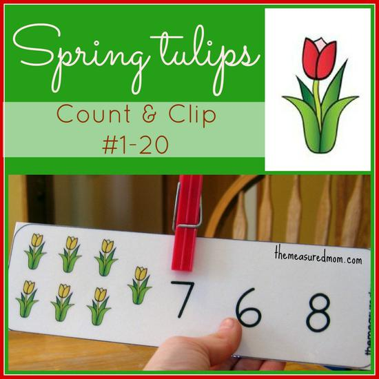 Spring Flower Math and Fine Motor Preschool Printable
