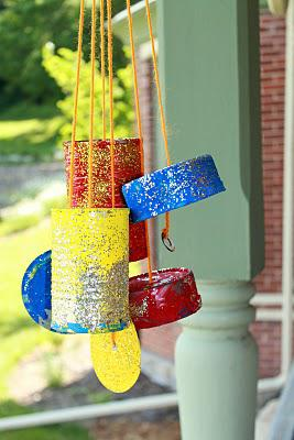 Recycled Windchim Kids Craft
