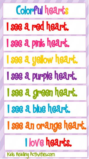 Valentine's Day Reading and Literacy Preschool Printables