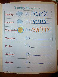 preschool file folder weather journal
