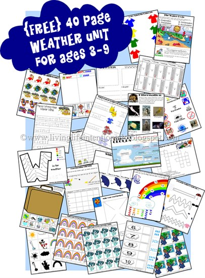 Worksheets for Weather Unit
