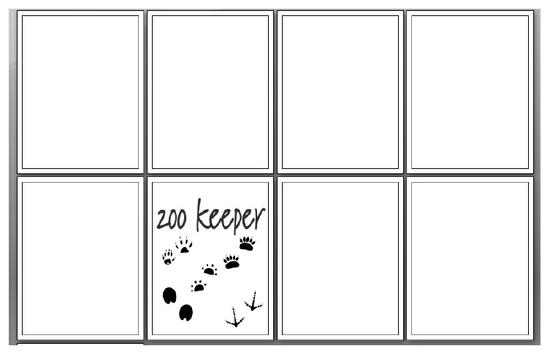 Zookeeper Occupations Fill-in Book Preschool Printable